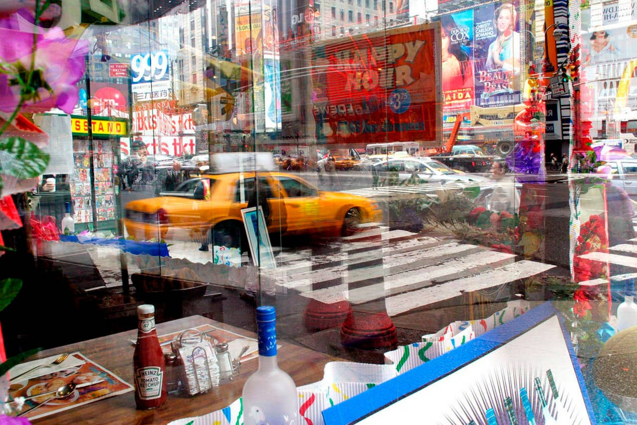 """""""View From The Corner Table of Howard Johnson's"""" - New York Street Photography"""