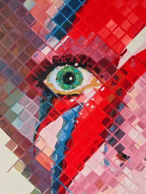 David Bowie - Contemporary Painting by Charlie Hanavich