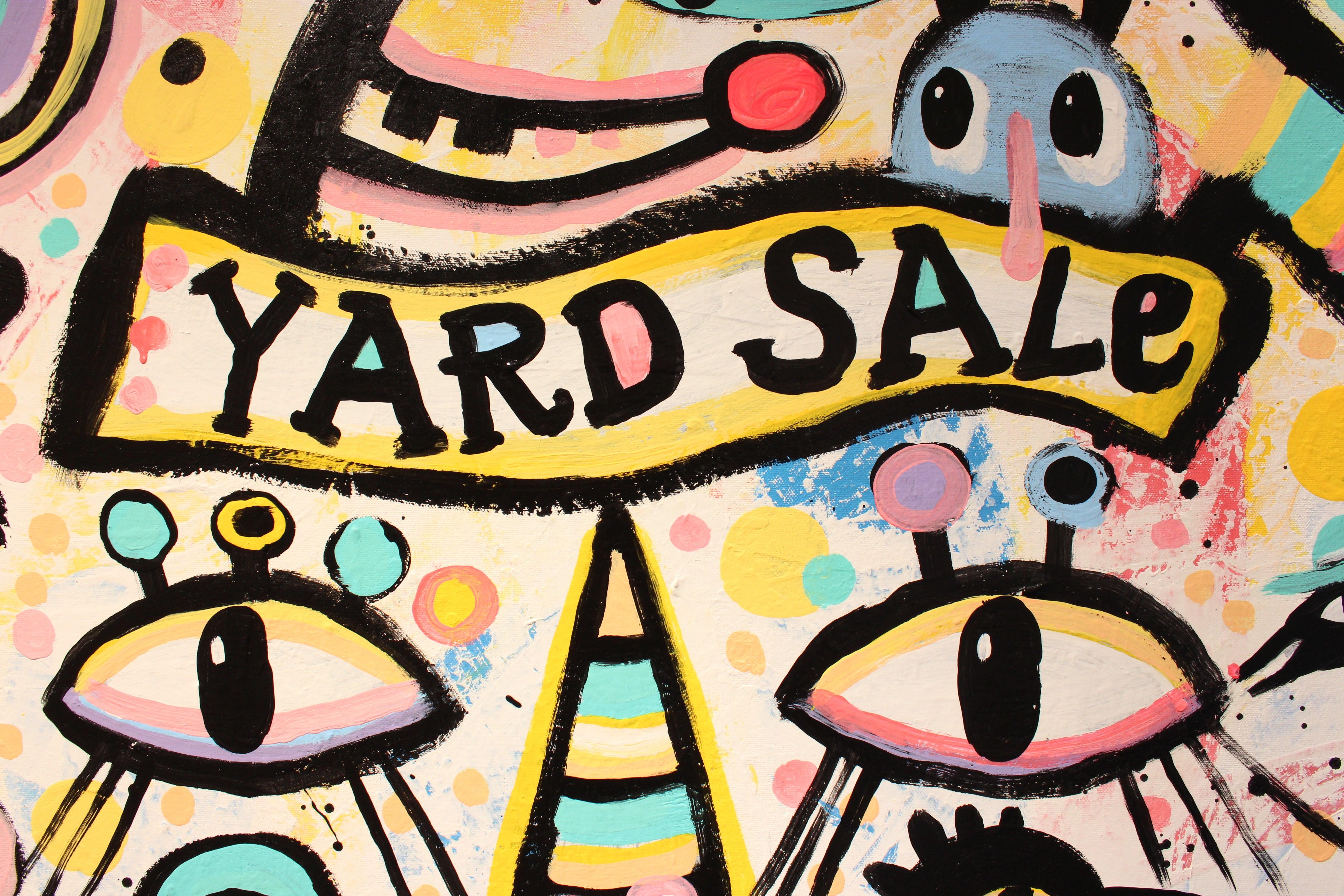 Kyle Brooks - Yard Sale, Painting For Sale at 1stdibs