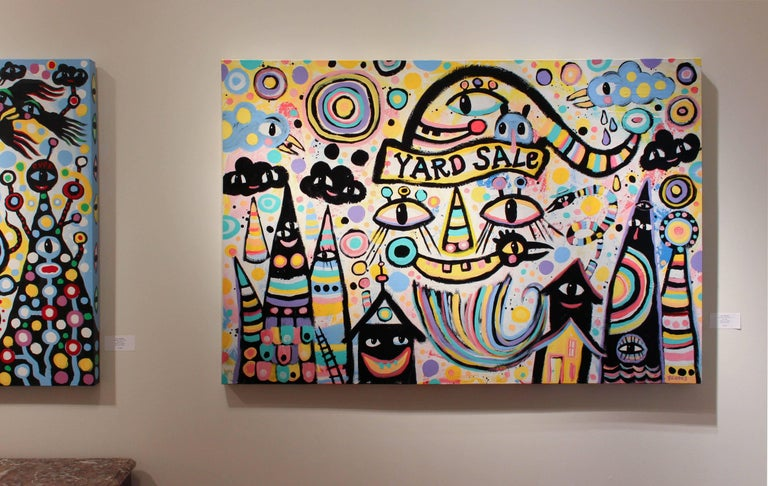 Yard Sale - Painting by Kyle Brooks