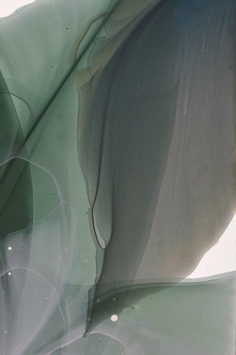 Green Glen - Abstract Painting by Marina Dunbar
