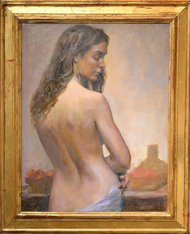 Marc Chatov Nude Painting - Study for Lavender