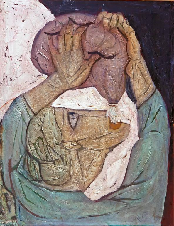 Roman Chatov Abstract Painting - The Thirst