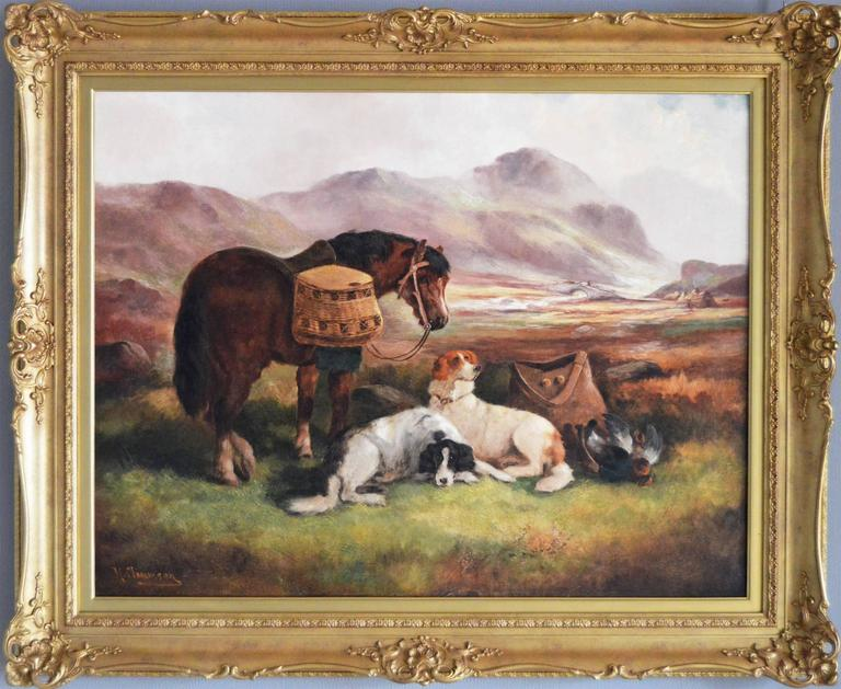 Robert Cleminson Animal Painting - The Day's Bag, oil on canvas