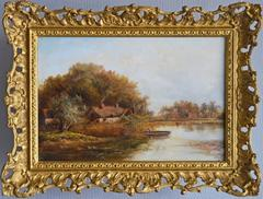 River Cottage, oil on canvas