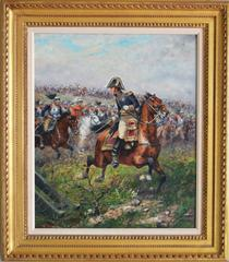 Marshall Ney Leading a Charge of the French Cuirassiers at Waterloo