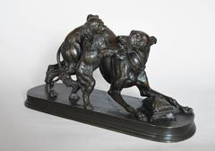 Whippet & King Charles Spaniel, Bronze Sculpture