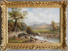In the Mawddach Valley, North Wales, oil on canvas