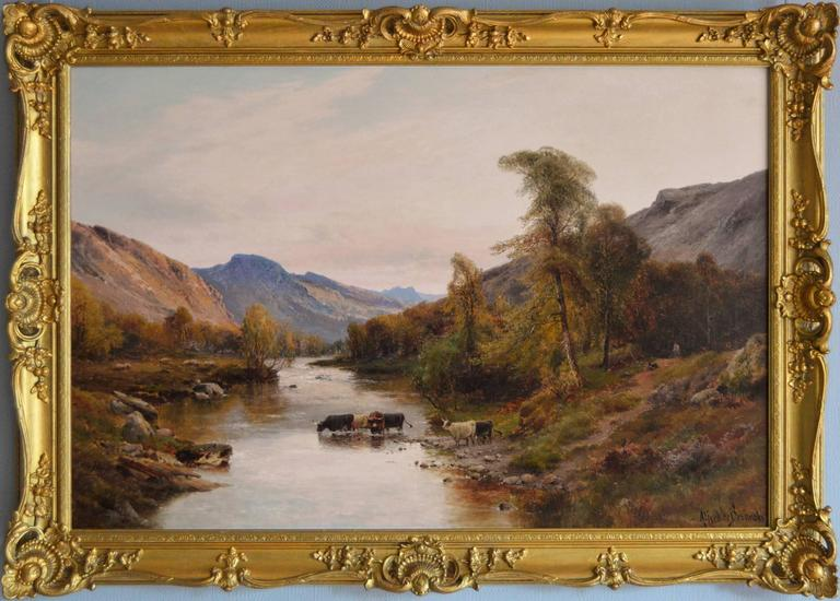 Cattle in the Highlands,oil on canvas