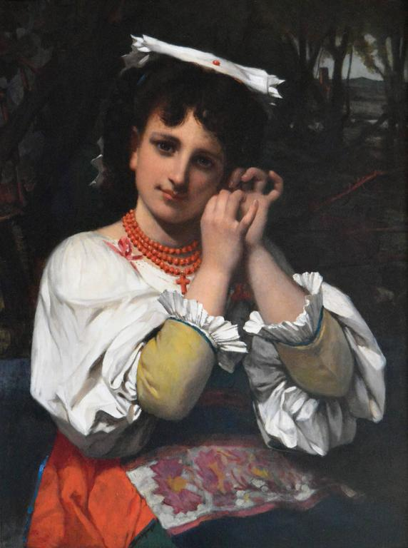 The Coral Necklace - Painting by Pierre-Louis-Joseph de Coninck