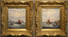 Fishing Boats, Boulogne; Hay Barges off the Thames