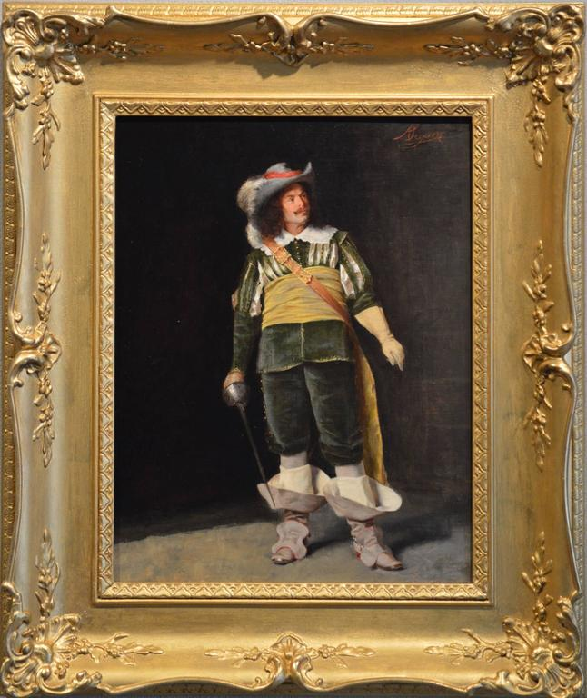 Alcide Segoni Figurative Painting - An Italian Cavalier