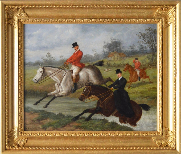 Edward Benjamin Herberte Animal Painting - Over the Brook