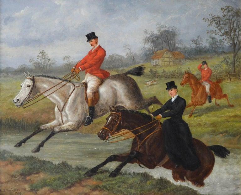 Over the Brook - Painting by Edward Benjamin Herberte