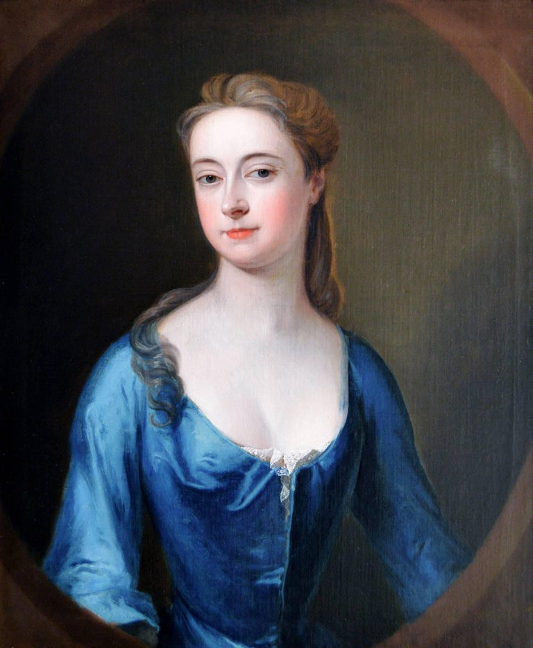 Portrait of a Lady - Painting by Studio of Michael Dahl