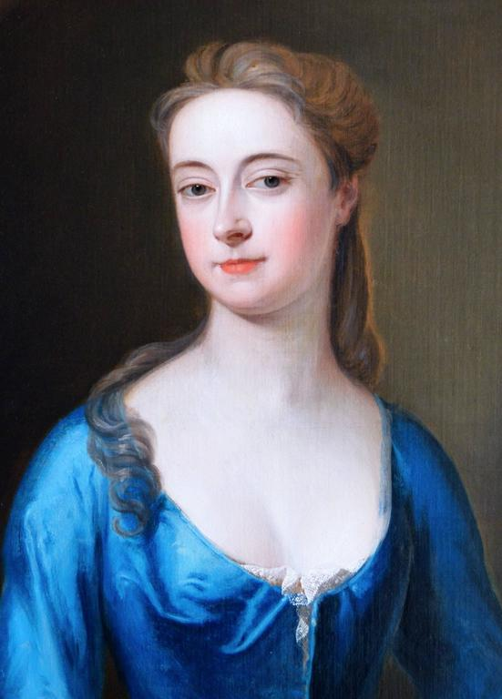 Portrait of a Lady - Old Masters Painting by Studio of Michael Dahl