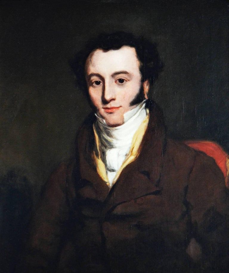 Portrait of Andrew Farmer - Painting by Thomas Lawrence (circle)