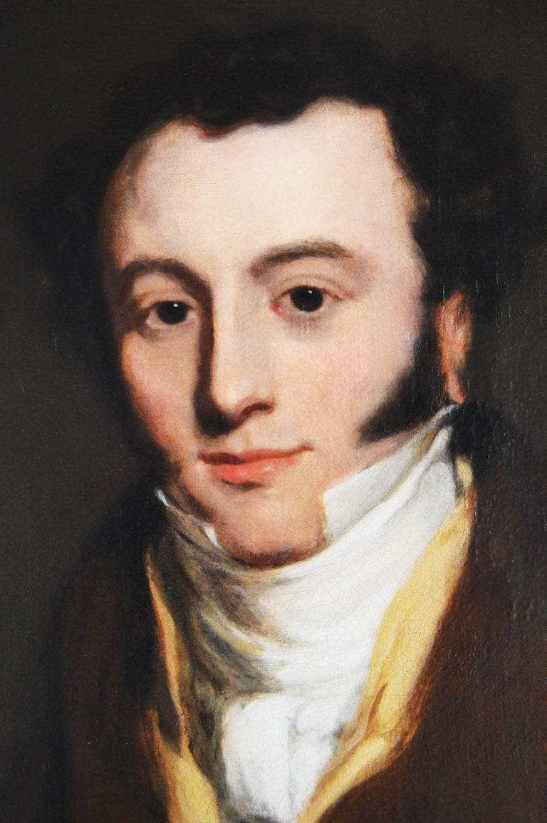 Portrait of Andrew Farmer - Old Masters Painting by Thomas Lawrence (circle)