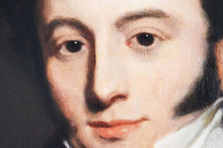 Portrait of Andrew Farmer - Black Portrait Painting by Thomas Lawrence (circle)