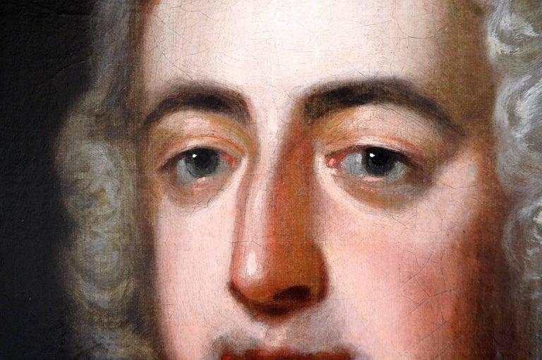Portrait of a Gentleman - Black Portrait Painting by (After) John Vanderbank