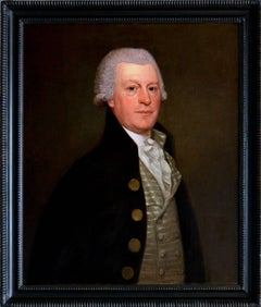 18th Century oil painting portrait of Samuel Athawes