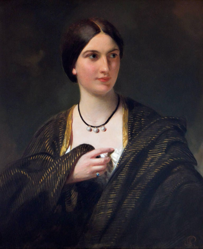 Portrait of a lady - Painting by James Sant