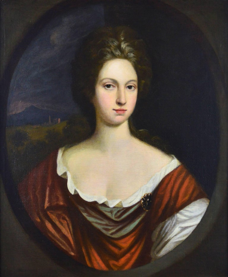 Portrait of a Lady - Painting by Circle of Sir Godfrey Kneller