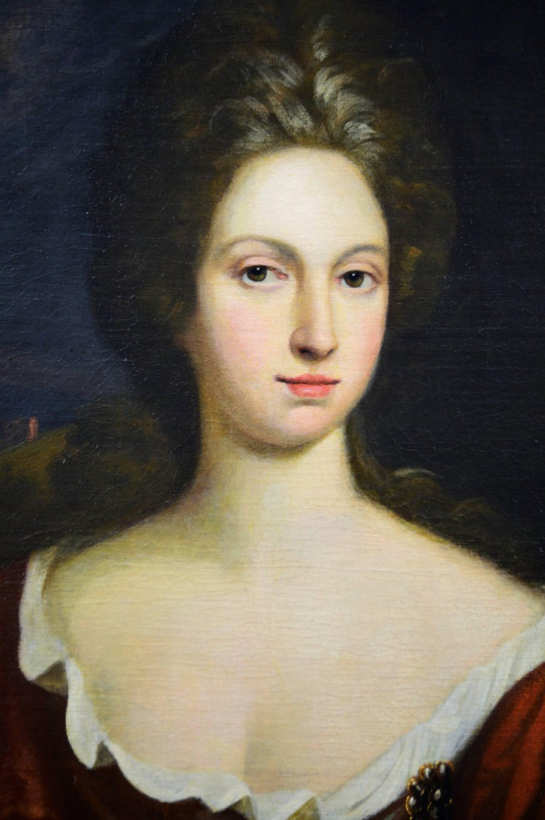 Portrait of a Lady - Old Masters Painting by Circle of Sir Godfrey Kneller