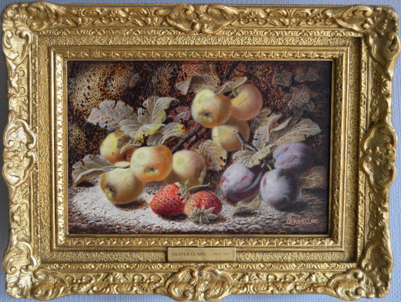 Still Life of Fruit, oil on board