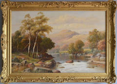 A Sunny Afternoon on the Mawddach, oil on canvas