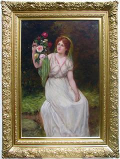 The Flower Maiden, oil on canvas