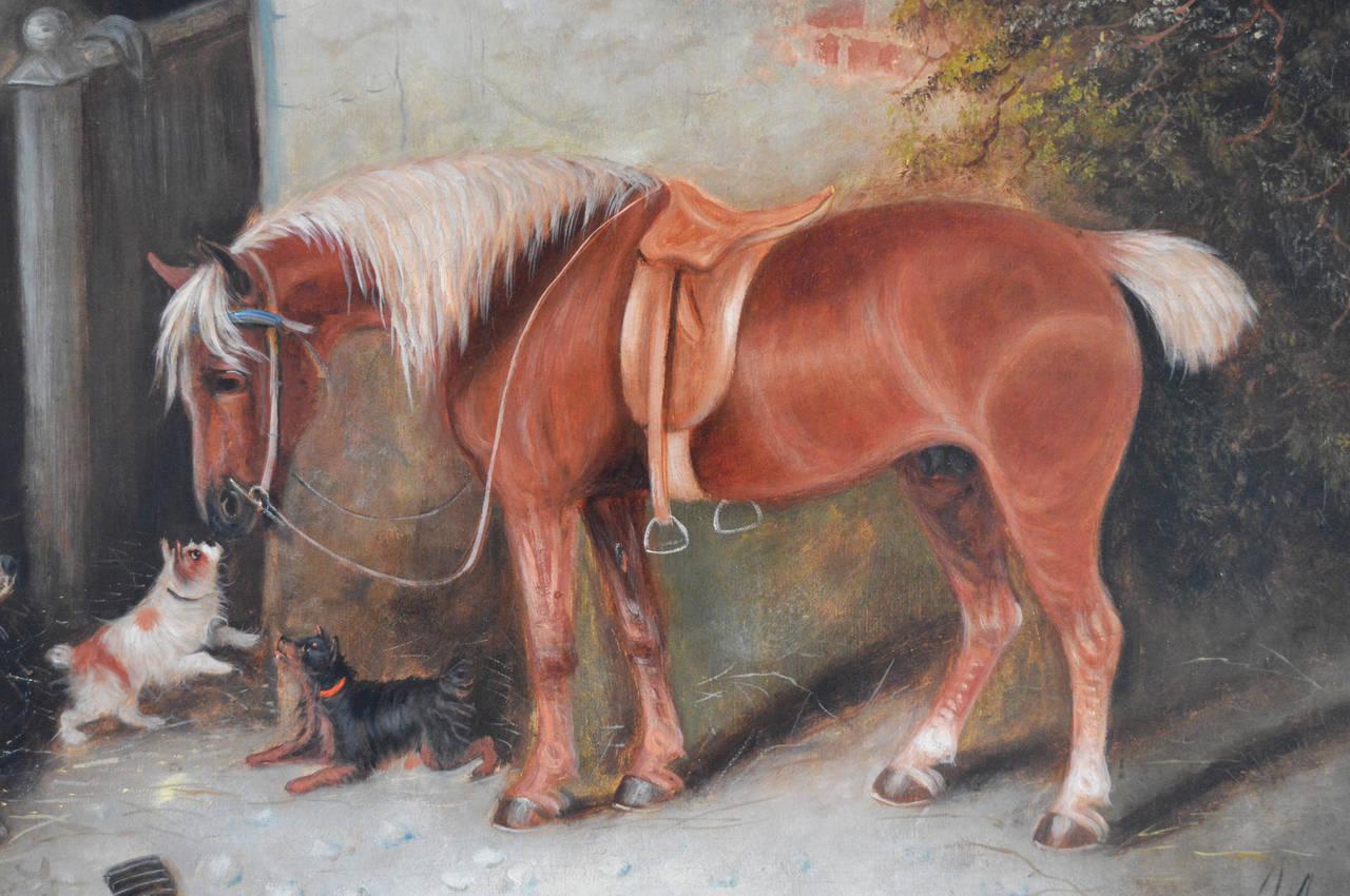 Farmyard Friends, oil on canvas 1