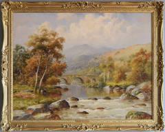 The Old Bridge near Betws-y-coed, oil on canvas