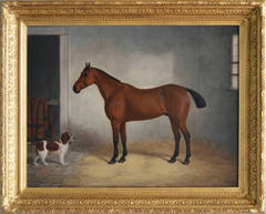 Stable Mates, oil on canvas