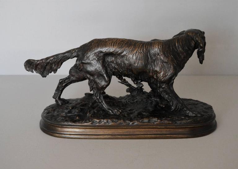 Epagneul Anglais, bronze sculpture 1