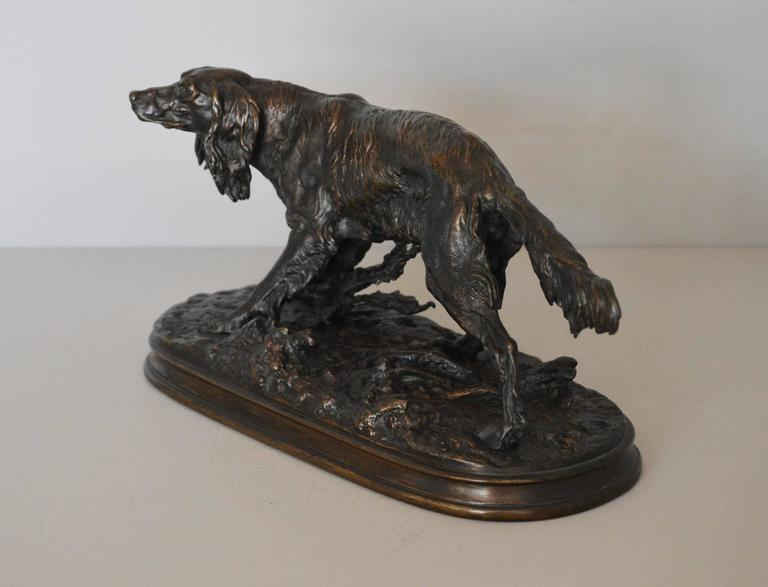 Epagneul Anglais, bronze sculpture 2