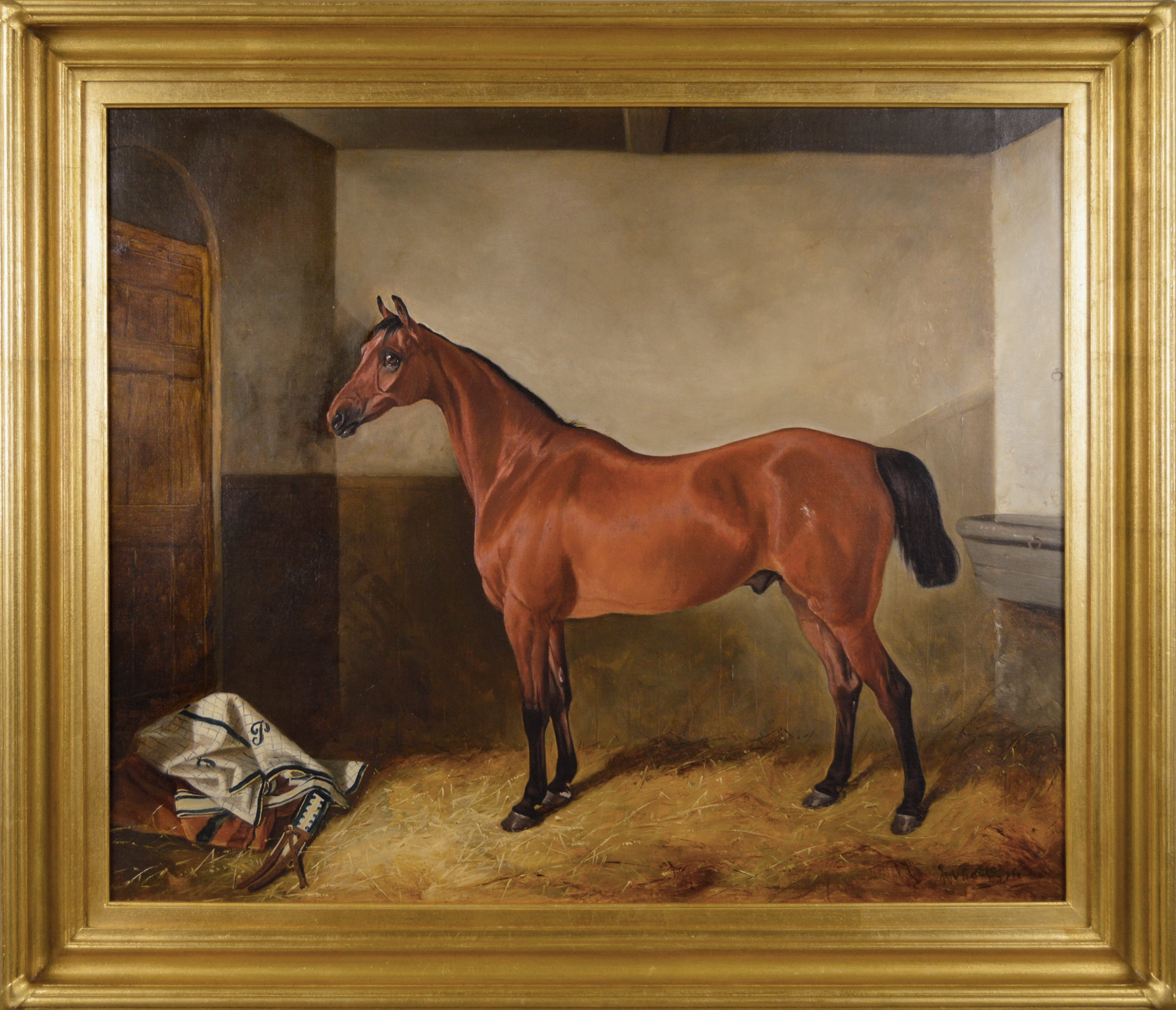 YORKSHIRE HUNTER HORSES EQUESTRIAN HUNTING ART PAINTING REAL CANVAS PRINT
