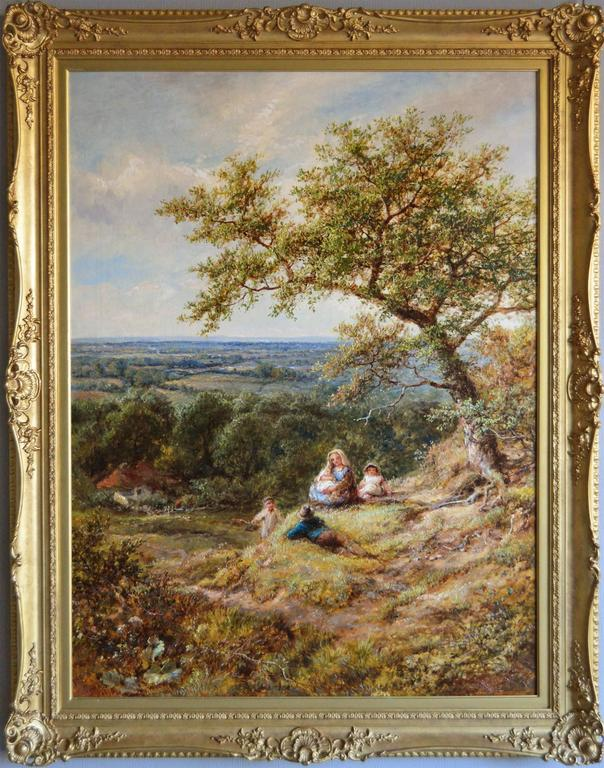 Resting near Arundel, Sussex, oil on canvas