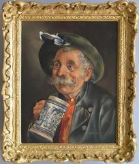 Le Blue Stein, oil on canvas