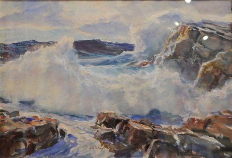 "John Whorf Landscape Art - ""Crashing Surf"""