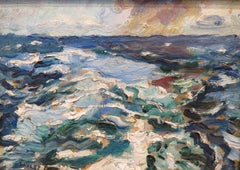 """Rough Seas, Cornwall"""