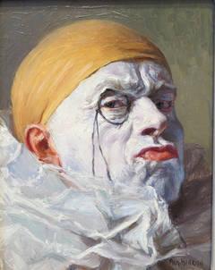 """Clown with Orange Cap & Monocle"""