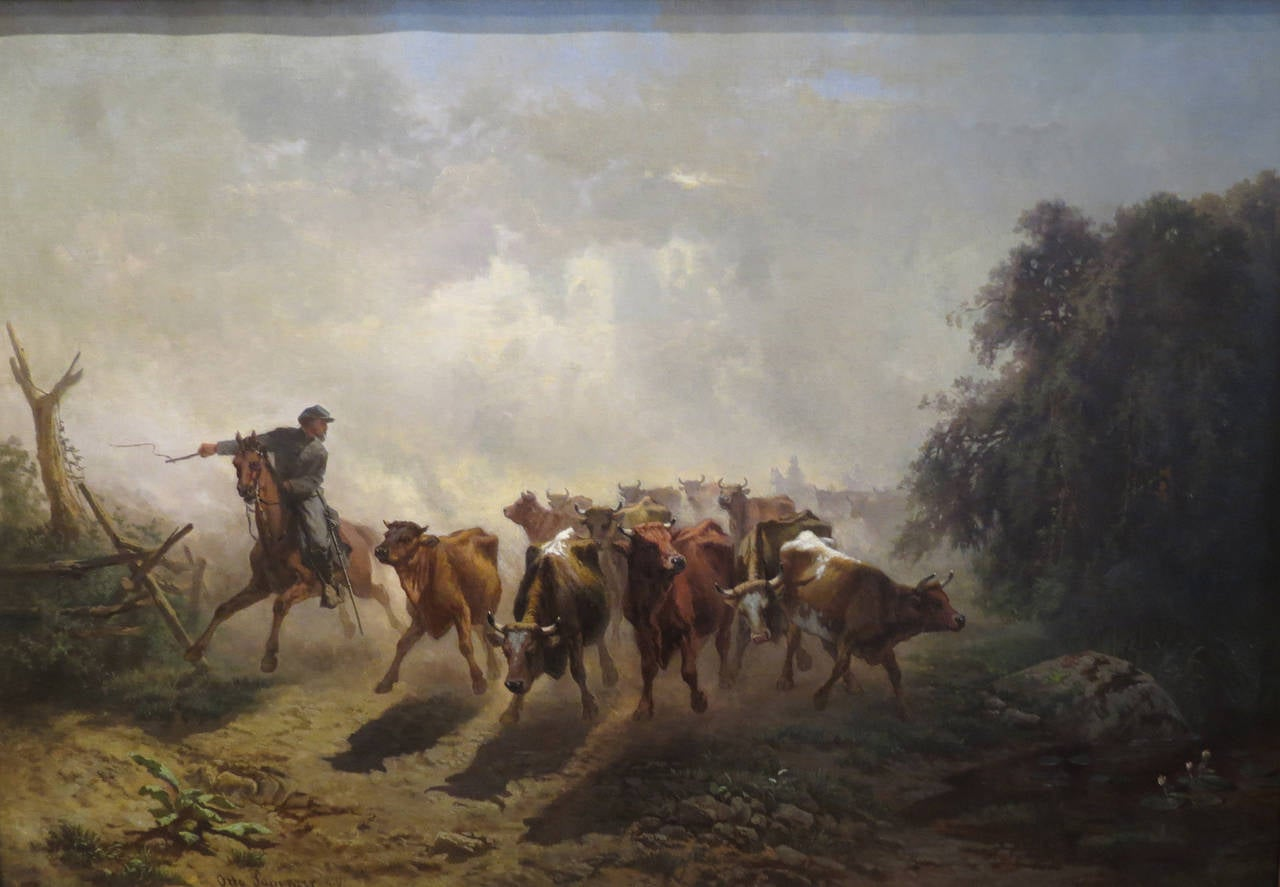 """Union Drover with Cattle"""