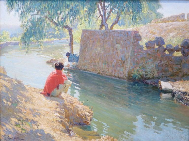 "George Loftus Noyes Landscape Painting - ""Rio Grande"""