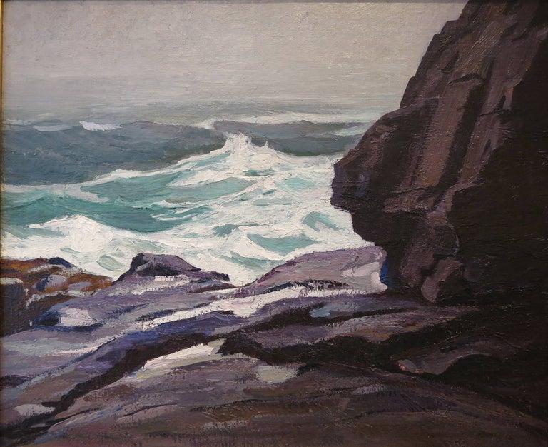 "Abraham Jacob Bogdanove Landscape Painting - ""Seascape Monhegan"""