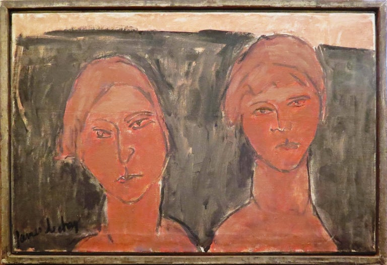 """James Lechay Figurative Painting - """"Two Women"""""""