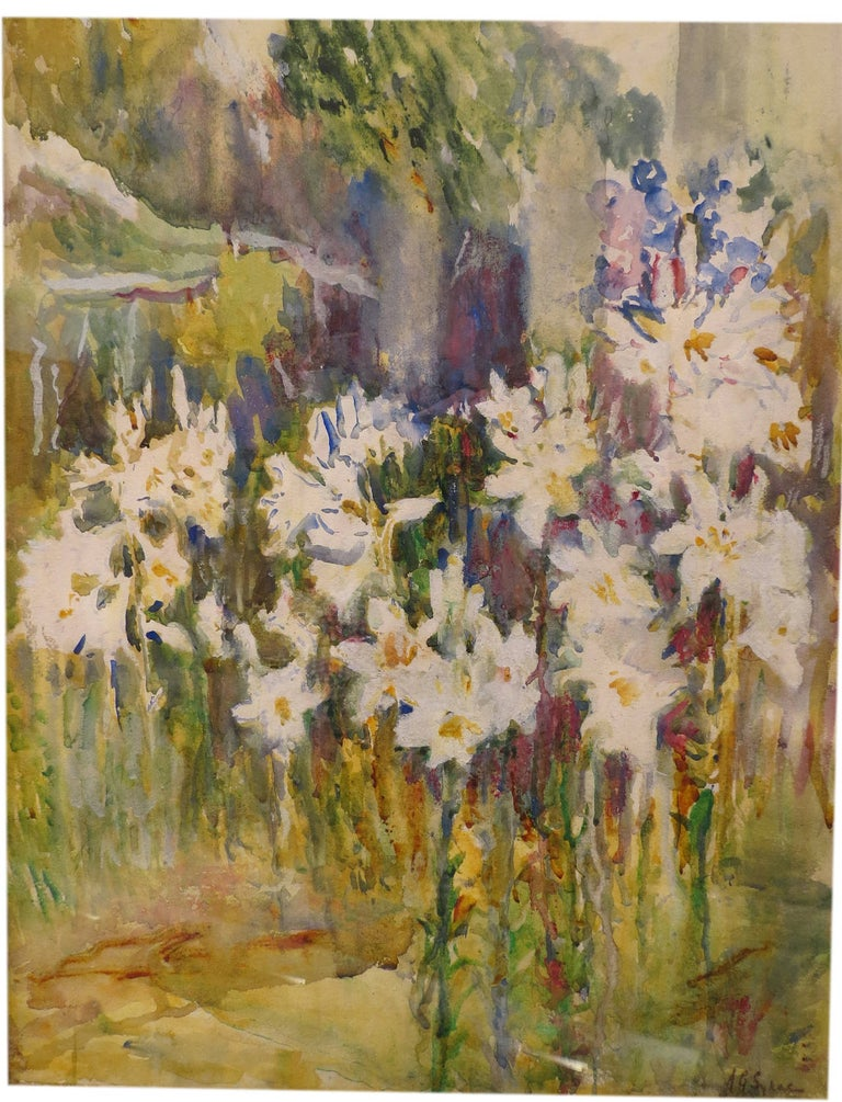 """Annie Gooding Sykes Landscape Art - """"Lillies In Bloom"""""""