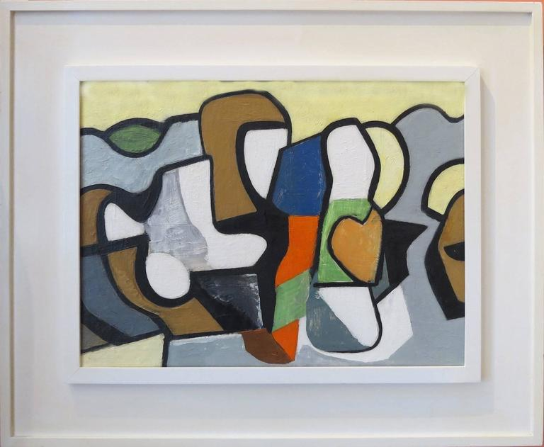 <i>Abstraction,</i> ca. 1948, by Nell Blaine, offered by Ashley John Gallery