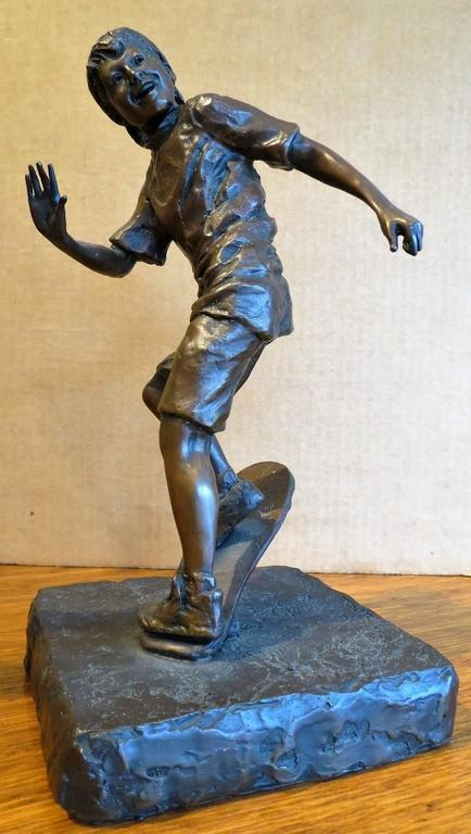 Glenna Goodacre  (born 1939)  With a career spanning nearly five decades, Glenna Goodacre has become well-known for her bronze sculptures, specializing in sensitive portraits of children in action. Another subject matter is American Indians