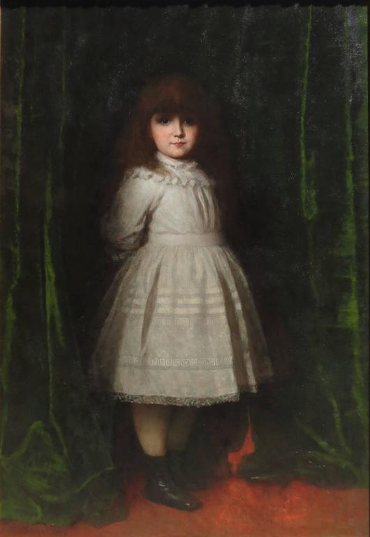 Eastman Johnson Quot Marguerite Daisy Leiter Quot Aged 5